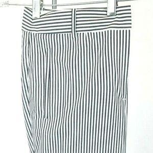 J. Crew Women's Pinstripe Pleated Casual Pants 100